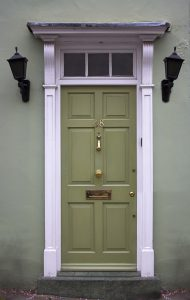bigstock-Green-front-door-785674