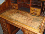 Antique Desk a Leather Top