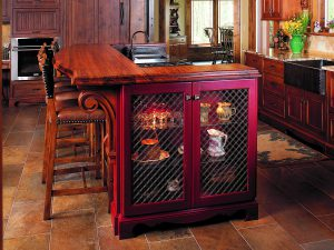 Wire Grill Kitchen Island End