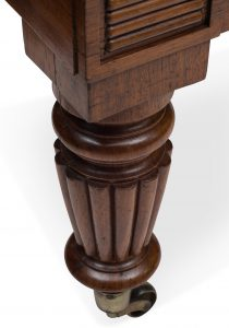 Wheeled Wooden Leg of an Antique