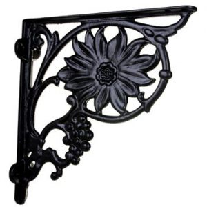 Shelf Bracket with Flower and Grapes