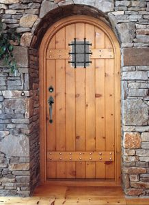 wood door with grille photo