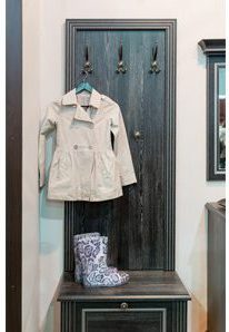Mudroom Hooks and Seat